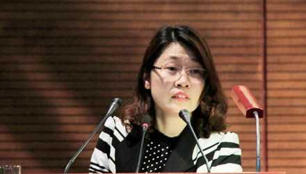 Bà Phạm Thu Hương, Phó trưởng Ban Dân chủ pháp luật, Ủy ban T.Ư Mặt trận Tổ quốc. Ảnh: Trường Phong.