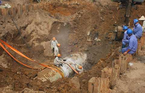 Công ty Trung Quốc trúng thầu cung cấp đường ống nước sông Đà