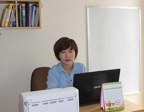 Chị Nguyễn Thị Phượng, người mở ra dịch vụ cho thuê tài xế, lái xe chở người say về nhà
