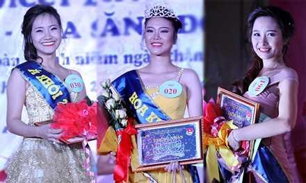Thí sinh Lê Thị Phương Hà số báo danh 020 đăng quang Hoa khôi