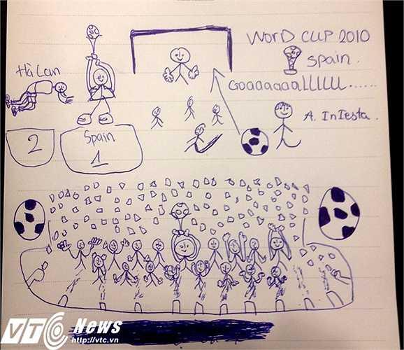 Những nét vẽ ngộ nghĩnh của 'đàn em Công Phượng', về viễn cảnh được so tài tại mini World Cup (ảnh: Hoàng Tùng)