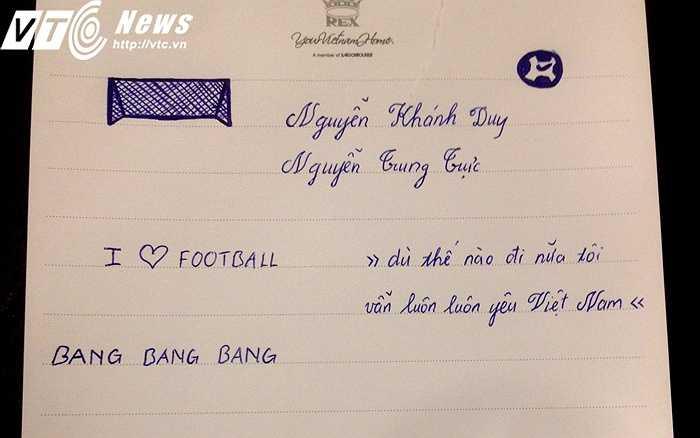 Lời 'tỏ tình' thân thương với bóng đá và quê hương (ảnh: Hoàng Tùng)