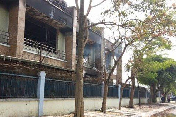 Hinh anh Video: Chay du doi khu van phong Cong ty LS-Vina cable Hai Phong 3