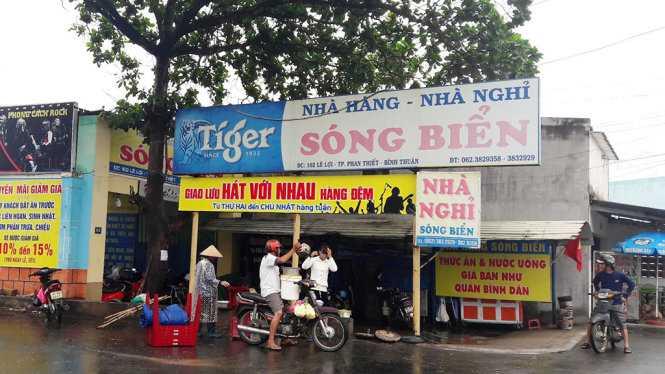 Nhà hàng Sóng Biển, TP Phan Thiết nơi xảy ra vụ việc - ẢNH: NG.NAM