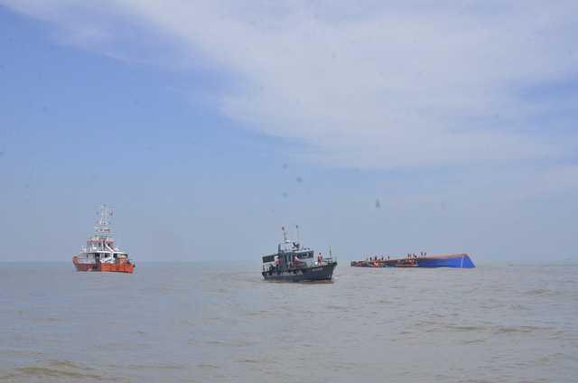 Một vụ chìm tàu trên biển Cần Giờ (ảnh minh họa)