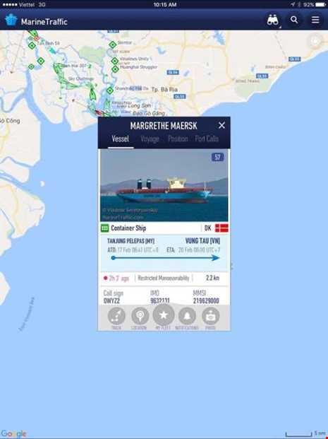 Siêu tàu gần 2 tỉ USD đang tiến vào Việt Nam - ảnh 1