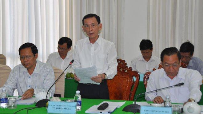 Ông Võ Thành Thống, Chủ tịch UBND thành phố Cần Thơ phát biểu