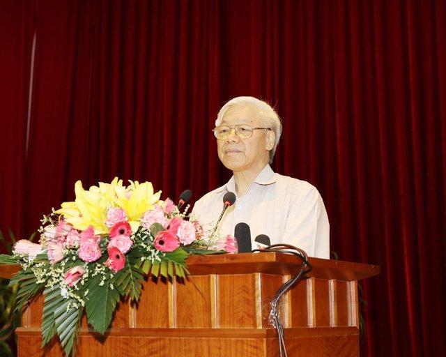 Tổng Bí thư Nguyễn Phú Trọng phát biểu tại Hội nghị. Ảnh : Trí Dũng – TTXVN