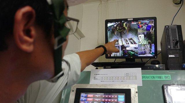 Khu vực thi công giám sát rất chặt chẽ bằng hệ thống camera.