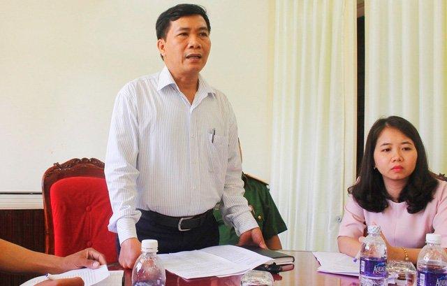 Phó Chủ tịch TP Hội An Nguyễn Văn Sơn thông tin về vụ việc cán bộ đánh người bán chè