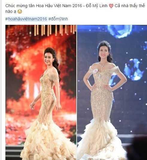 Do My Linh khoa Facebook sau khi dang quang Hoa Hau VN 2016 hinh anh 2