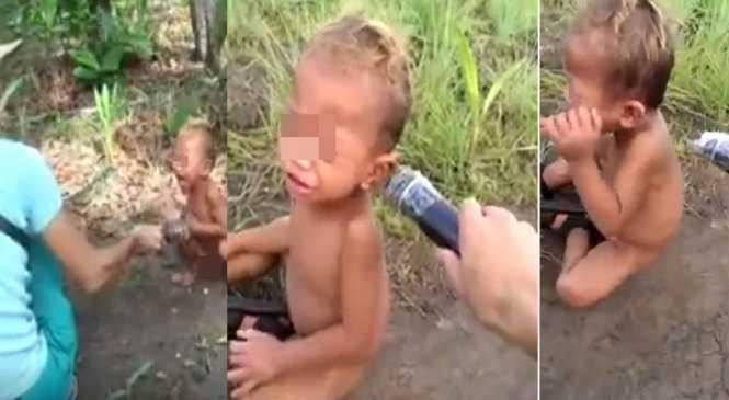 Hình ảnh em bé bị bạo hành khiến cộng đồng mạng phẫn nộ - Ảnh cắt từ clip