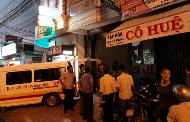 Khách sạn nơi vụ nổ xảy ra - Ảnh: TRUNG TÂN