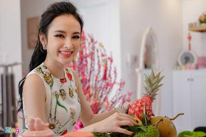 Angela Phuong Trinh don Tet o can ho moi mua hinh anh 7