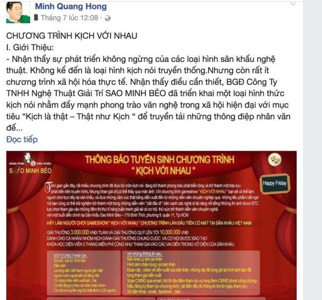 Bat chap du luan, Minh Beo dang dan tuyen thi sinh thi game show hinh anh 1