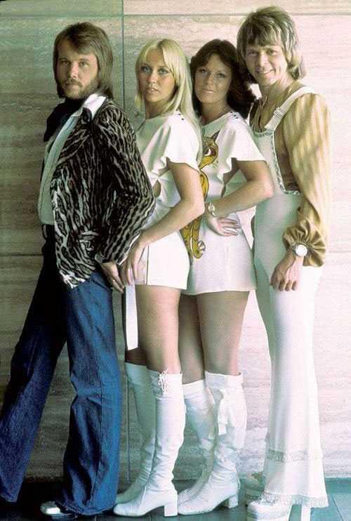 Ban nhạc ABBA ngày ấy.