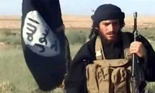 Abu Mohammad al-Adnani. Ảnh cắt từ video
