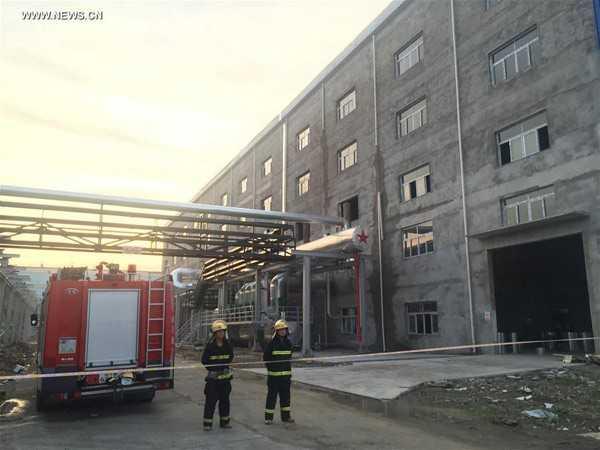 Hiện trường vụ nổ ở nhà máy điện. Ảnh: Xinhua