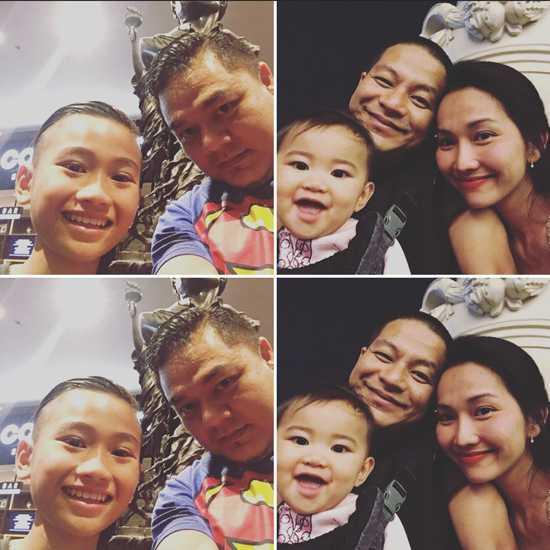 Không chỉ vợ chồng Kim Hiền mà hai nhóc tỳ Sonic, Yvona đều thích thú với chuyến đi này.