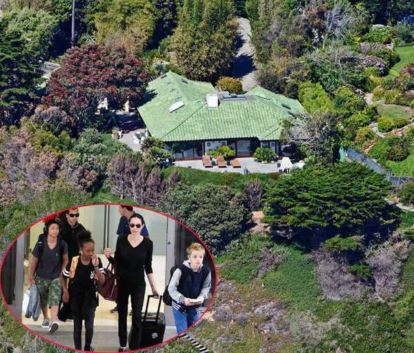 Jolie đã thuê biệt thự mới để đưa 6 con đến ở ngay sau khi ký đơn ly hôn.
