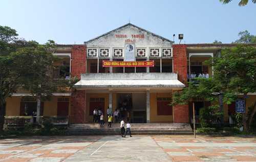 Trường THCS Diễn Lợi có có 8 lớp với 280 em. Ảnh: Hải Bình.