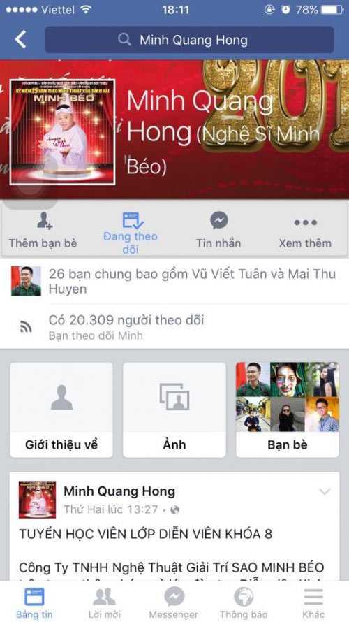 Nghệ sĩ Minh Béo mở lại facebook và sắp về Việt Nam?