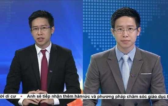 BTV Anh Tuấn em út của dàn BTV dẫn bản tin Thời sự 19h.