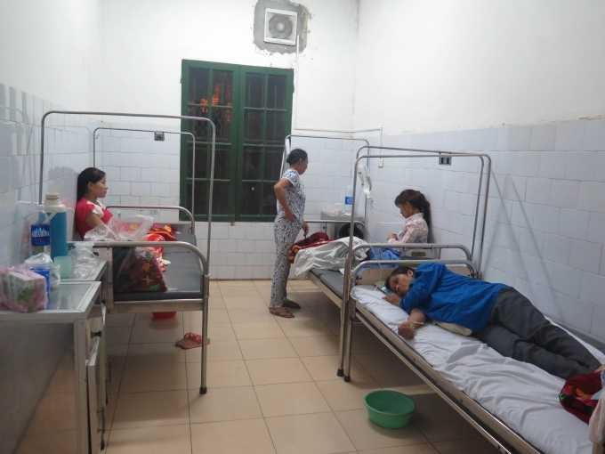 Một sốbệnh nhân điều trị tại Khoa Truyền nhiễm, Bệnh việnĐa khoa tỉnh NamĐịnh vào ngày 25/9.