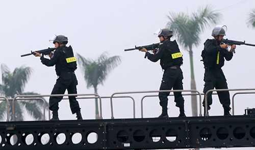 Cả nghìn cảnh sát cơ động, đặc nhiệm sẽ tham gia bảo vệ trận đấu giữa Việt Nam vàIndonesia vào tối 7/12. Ảnh minh hoạ: Bá Đô