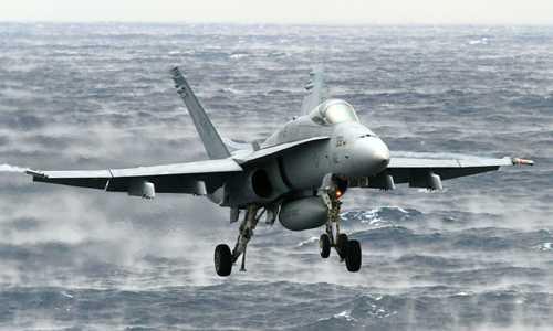 Tiêm kích F/A-18C của quân đội Mỹ. Ảnh: US Navy