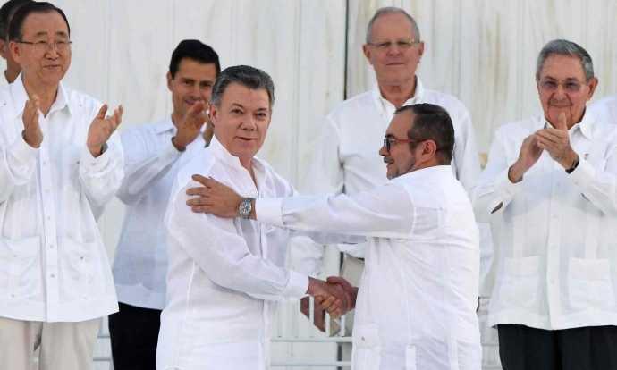 Tổng thống Colombia Juan Manuel Santosvì nhu