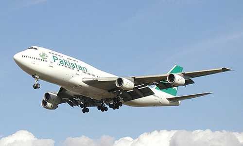 Máy bay của hãng hàng không quốc tế Pakistan. Ảnh: Wiki