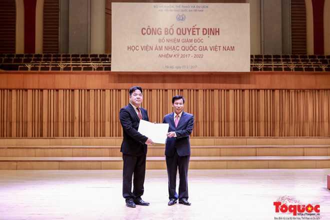 Bổ nhiệm Giám đốc Học viện Âm nhạc Quốc gia Việt Nam - ảnh 1