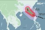 Bão số 8 gây mưa dông mạnh trên biển