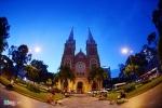 Ngắm nhà thờ Đức Bà từ camera bay