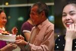 Gia đình Giang Hồng Ngọc mừng sinh nhật mẹ ở sân bay