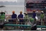 Nhiều du thuyền, nhà nổi ở Hồ Tây bị cưỡng chế, tháo dỡ