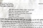 Làm rõ vụ rò rỉ tài liệu đề thi chuyên ngành thanh tra ở Cà Mau