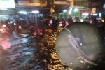 Đàn cá trê bơi vào nhà dân ở TP.HCM trong mưa ngập