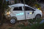 Xe khách húc taxi văng xa 20m, tài xế chết thảm