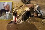 Cuộc truy đuổi chiếc Camry kéo lê xe máy bỏ chạy hơn 3km giữa đêm Hà Nội