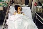 Xót thương nữ công nhân bị tai nạn giao thông nằm liệt giường