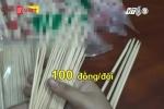 Rùng mình cảnh ngâm tẩm lưu huỳnh cho đũa dùng 1 lần ở Nghệ An