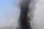 Clip: 'Vòi rồng đen' xuất hiện trên khai trường than ở Quảng Ninh
