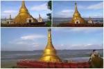 Lũ lụt 'nuốt chửng' chùa vàng, làm 10 vạn người mất nhà ở Myanmar
