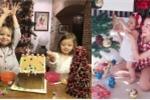 Ngắm 'cậu ấm cô chiêu' nhà sao Việt tự tay trang trí Noel