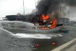 Clip: Cháy du thuyền ở Tuần Châu, du khách nháo nhào nhảy xuống biển