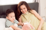 Vy Oanh hạnh phúc bên con trai trong tháng cuối của thai kì