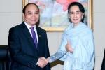 Thủ tướng gặp bà Aung San Suu Kyi