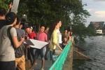 Nhã Phương và Kang Tae Oh diễn cảnh tình cảm ở Hồ Tây